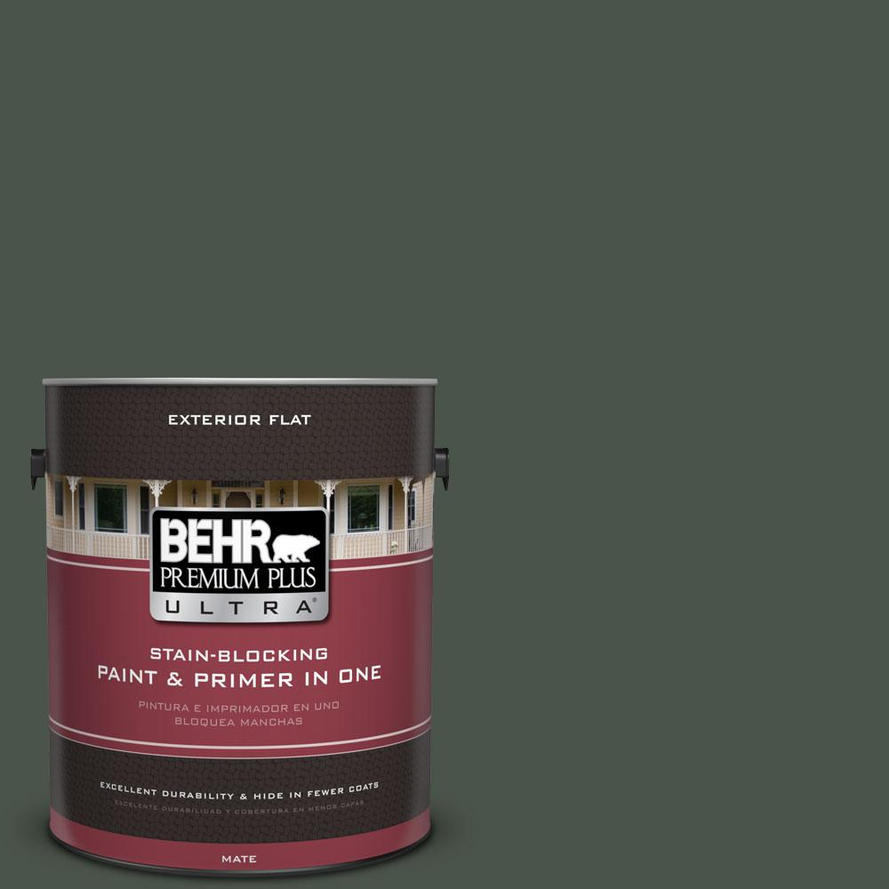 1 gal. #PMD-66 Deep Evergreen Flat Exterior Paint