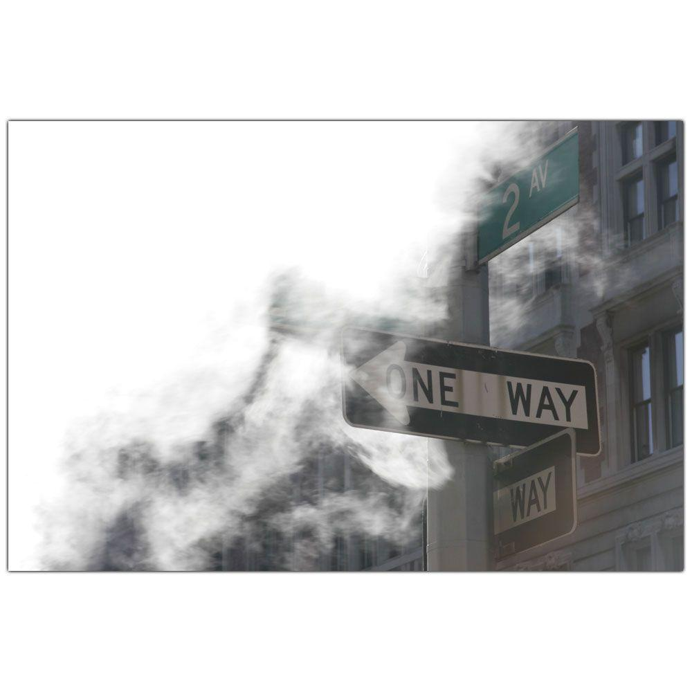 18 in. x 24 in. One Way Canvas Art