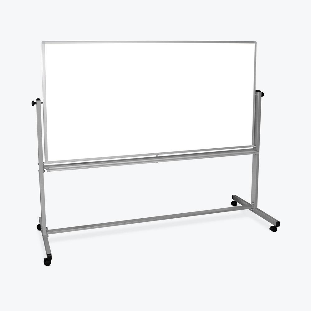 74.5 in. x 71.25 in. Mobile Double-Sided Magnetic Whiteboard