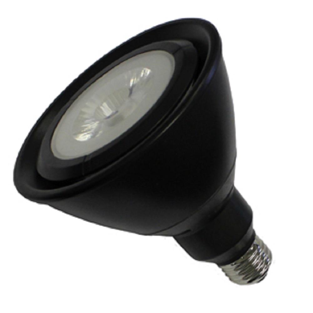 120-Watt Equivalent 17-Watt PAR38 Dimmable LED Narrow Flood Black Warm White 2700K Light Bulb 82054