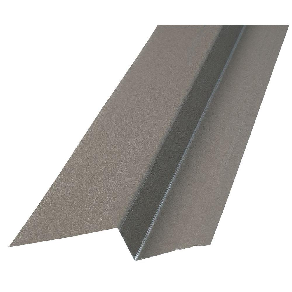 Construction Metals 2 in. x 1 in. x 3 in. x 10 ft. Bonderized Z-Bar Flashing