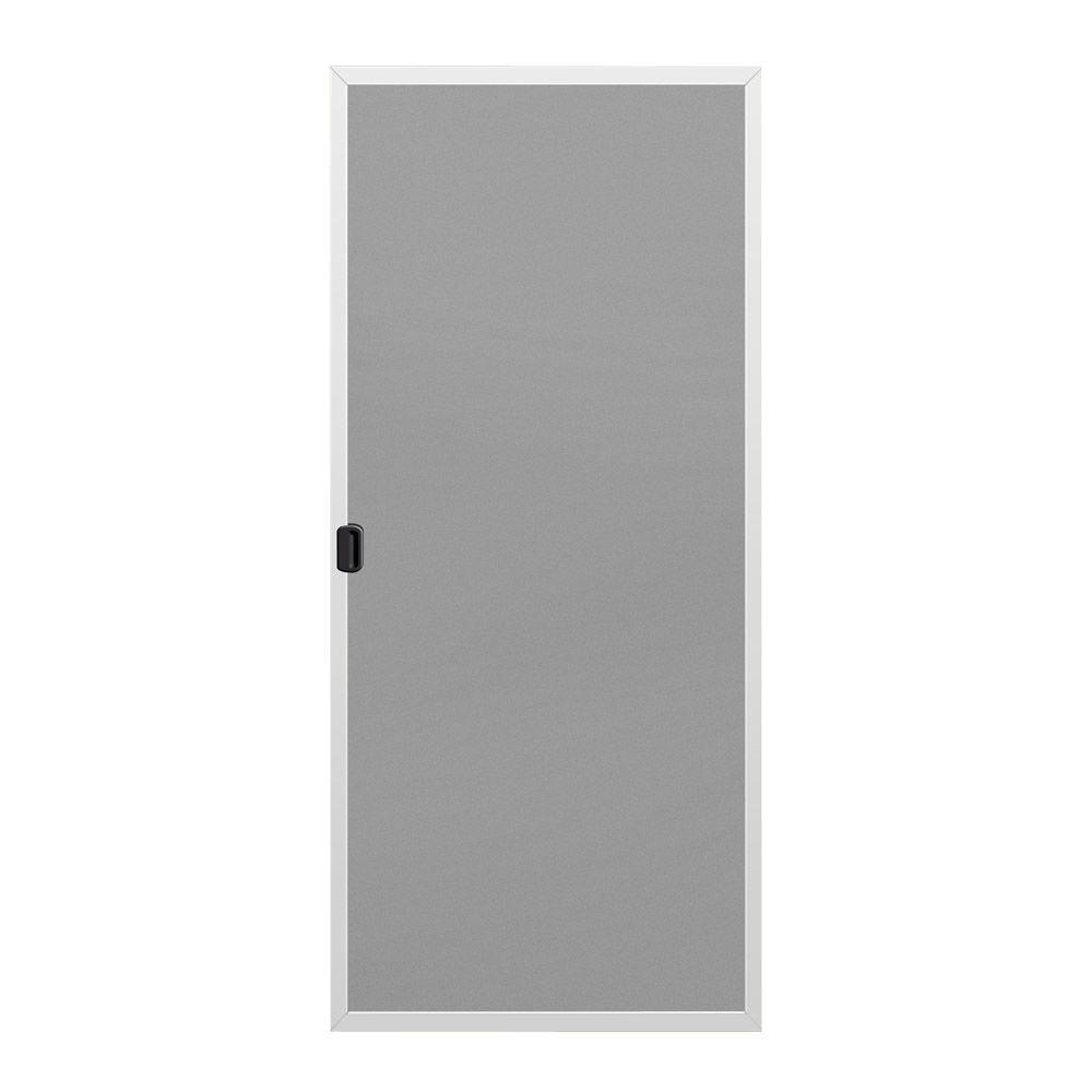 36 in. x 80 in. W-2500 Series White Screen Clad-Wood French