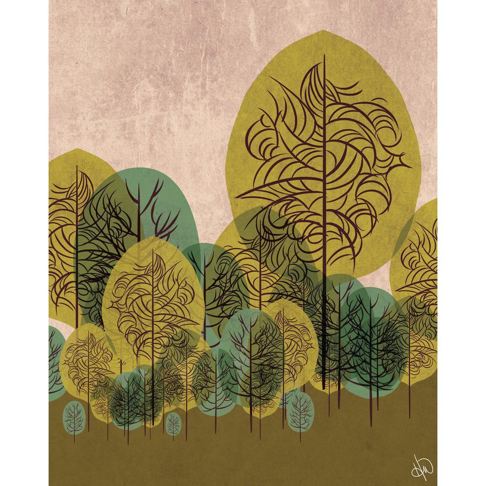 Creative Gallery 20 in. x 24 in. Peridot Standing Leaves Printed ...
