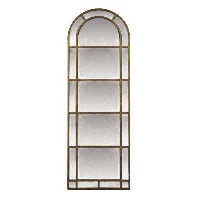 Arched Pier 83 in. x 29 in. Iron Framed Mirror