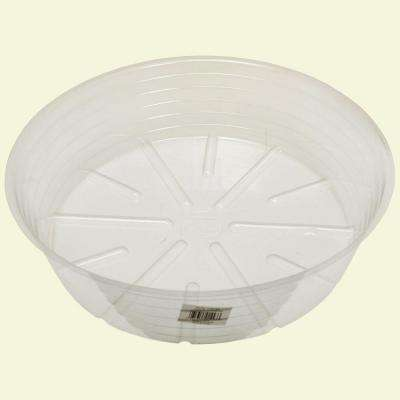 16 in. Deep Clear Plastic Saucer