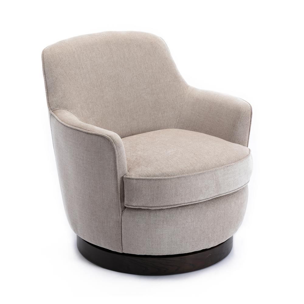 Reese Oatmeal Swivel Club Chair