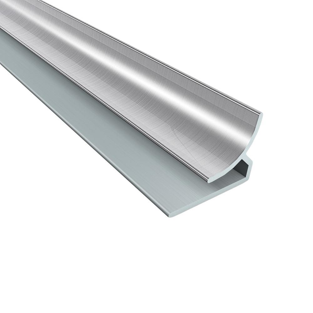 4 ft. Brushed Aluminum Inside Corner Trim