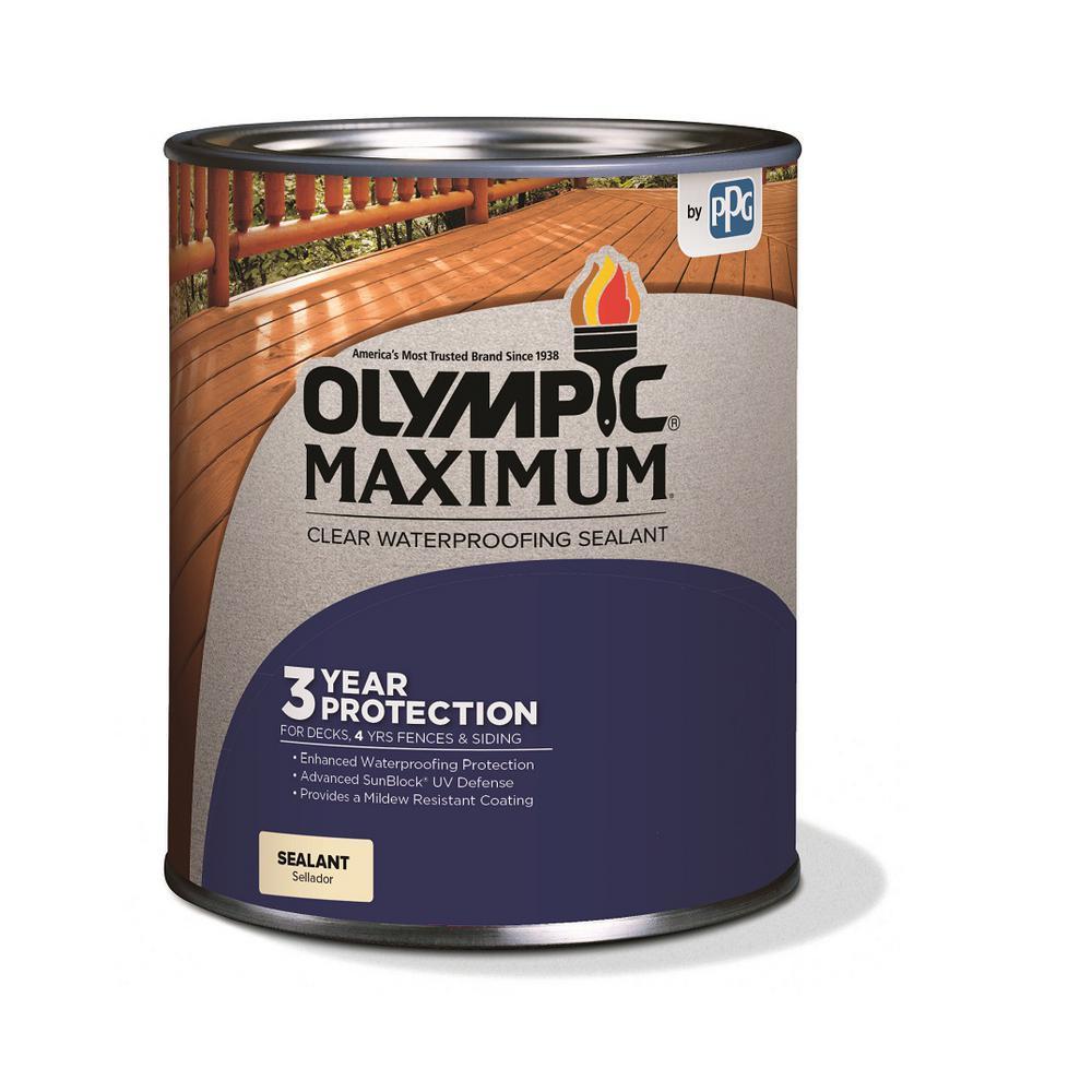 Maximum 1-qt. Clear Exterior Waterproofing Sealant Low VOC
