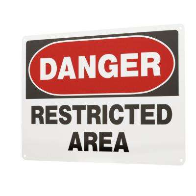 10 in. x 14 in. Aluminum Danger Restricted Area Sign