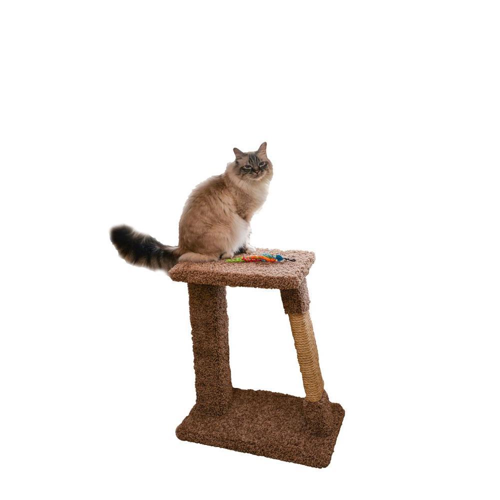 24 in. Brown Scratch Pad Cat Tower