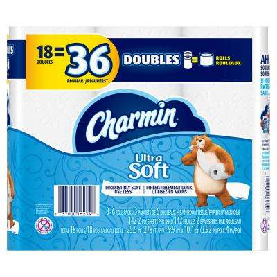 Ultra Soft Toilet Paper (18 Double Rolls)