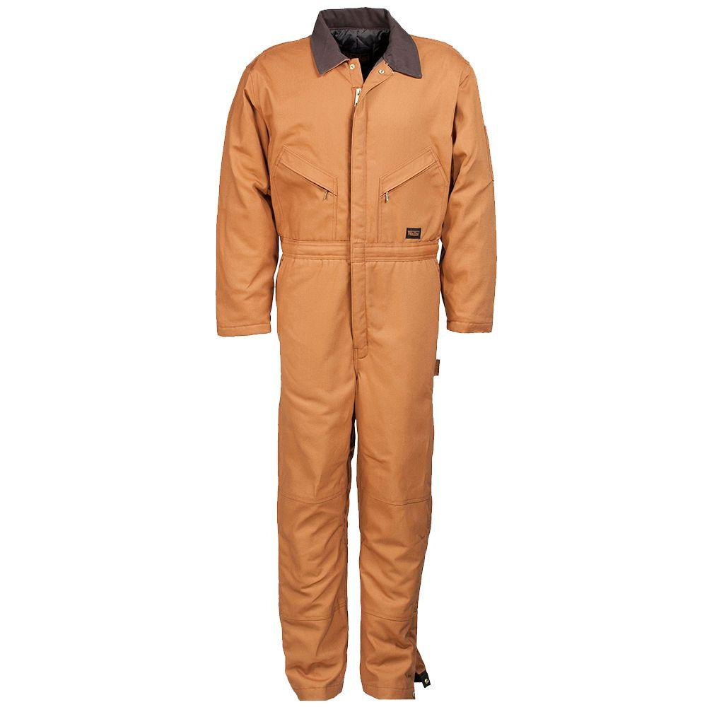 Walls Heavyweight Duck Insulated Large Short Coverall in Brown