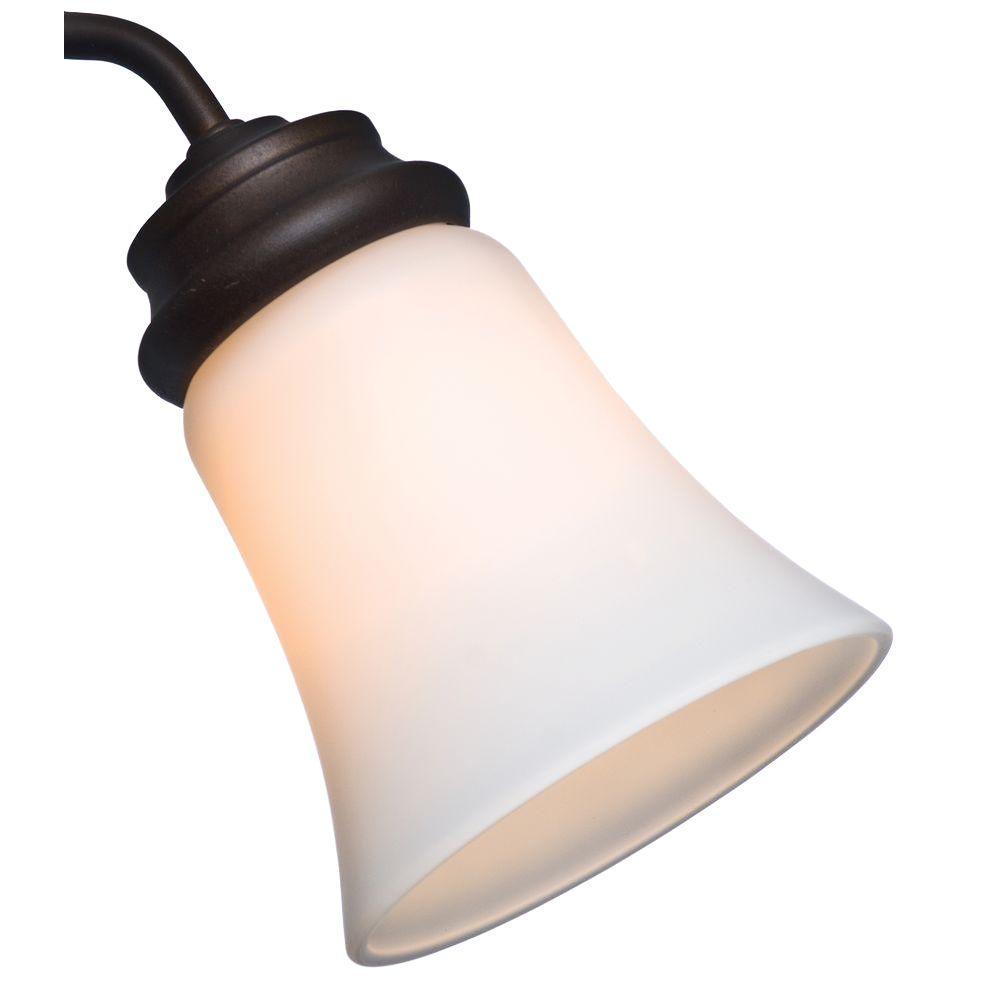 2-1/4 in. Cased White Bell Shape Glass Ceiling Fan Light (4-Set)