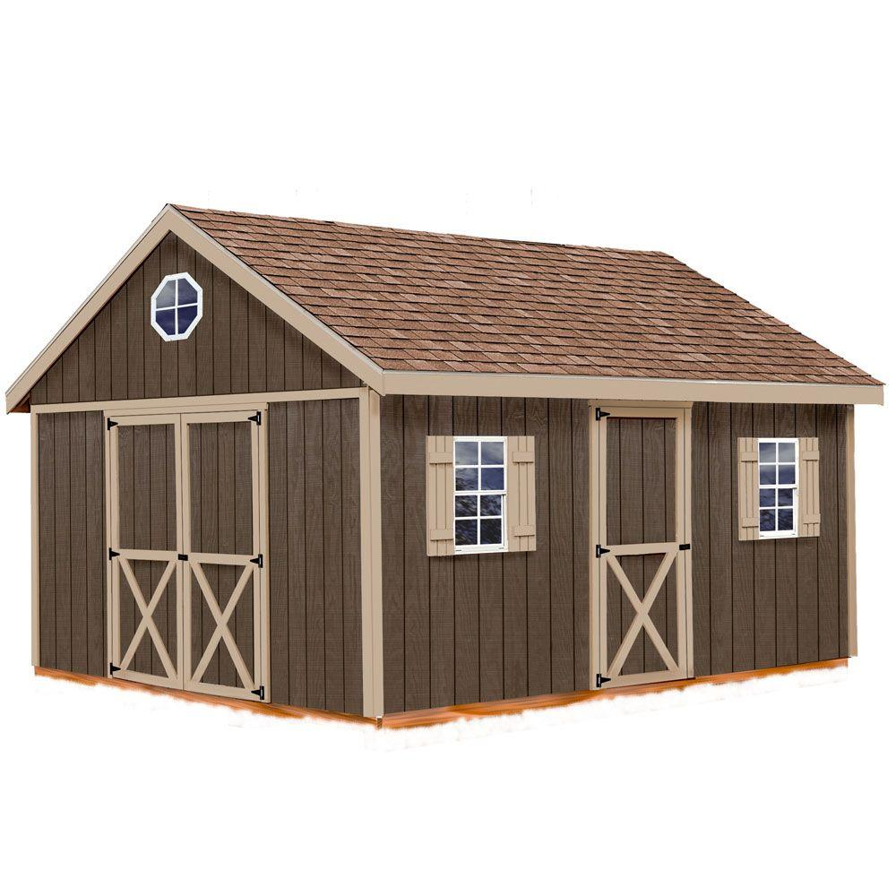 Best Barns Easton 12 ft. x 16 ft. Wood Storage Shed Kit with Floor