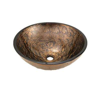 Vessel Sink in Cobalt Copper