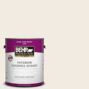 1 gal. #12 Swiss Coffee Eggshell Enamel Zero VOC Interior Paint and Primer in One