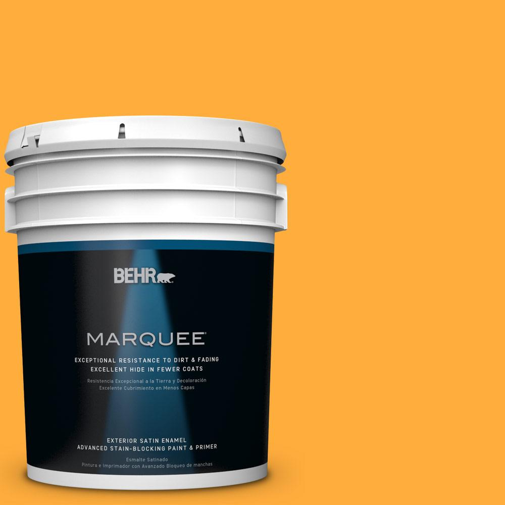 BEHR MARQUEE 5-gal. #S-G-310 Peach Butter Satin Enamel Exterior Paint