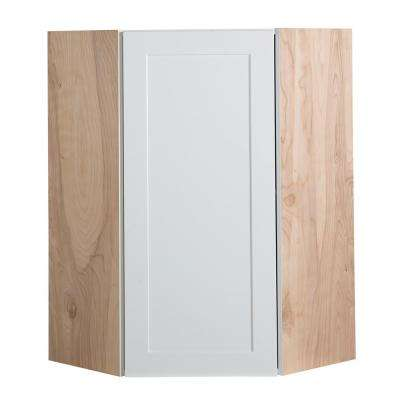 Cambridge Assembled 24x36x12.5 in. Corner Wall Cabinet in White