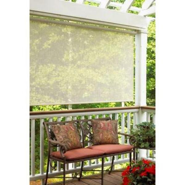 Radiance Sahara Catalina Fabric Exterior Roller Sun Shade - 72 in. W x 72 in. L
