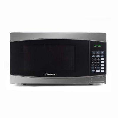 1.6 cu. ft. Countertop Microwave in Black with Stainless Steel Front