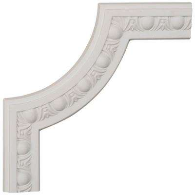10 in. x 5/8 in. x 10 in. Polyurethane Raymond Egg and Dart Panel Moulding Corner