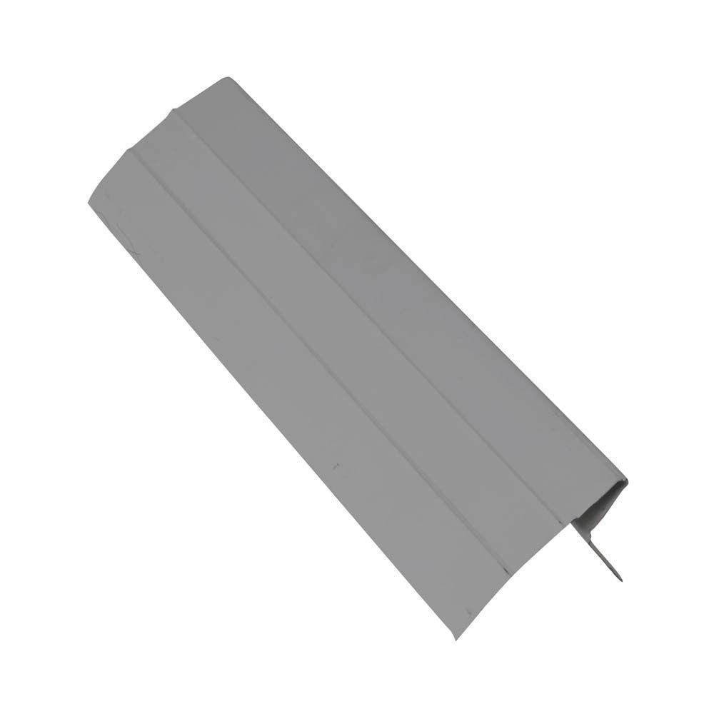 120 in. x 3 in. x 1.5 in. Galvanized Steel Gray