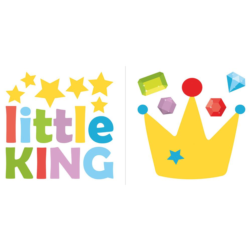 Home Decor Line Multi Little King Wall Quote Decal-CR-11107 - The ...