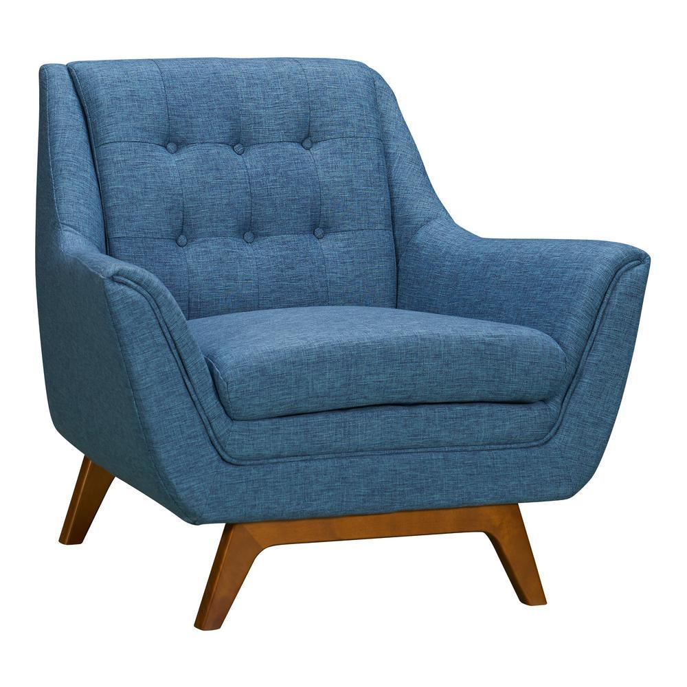 Armen Living Janson Blue Fabric Sofa Chair
