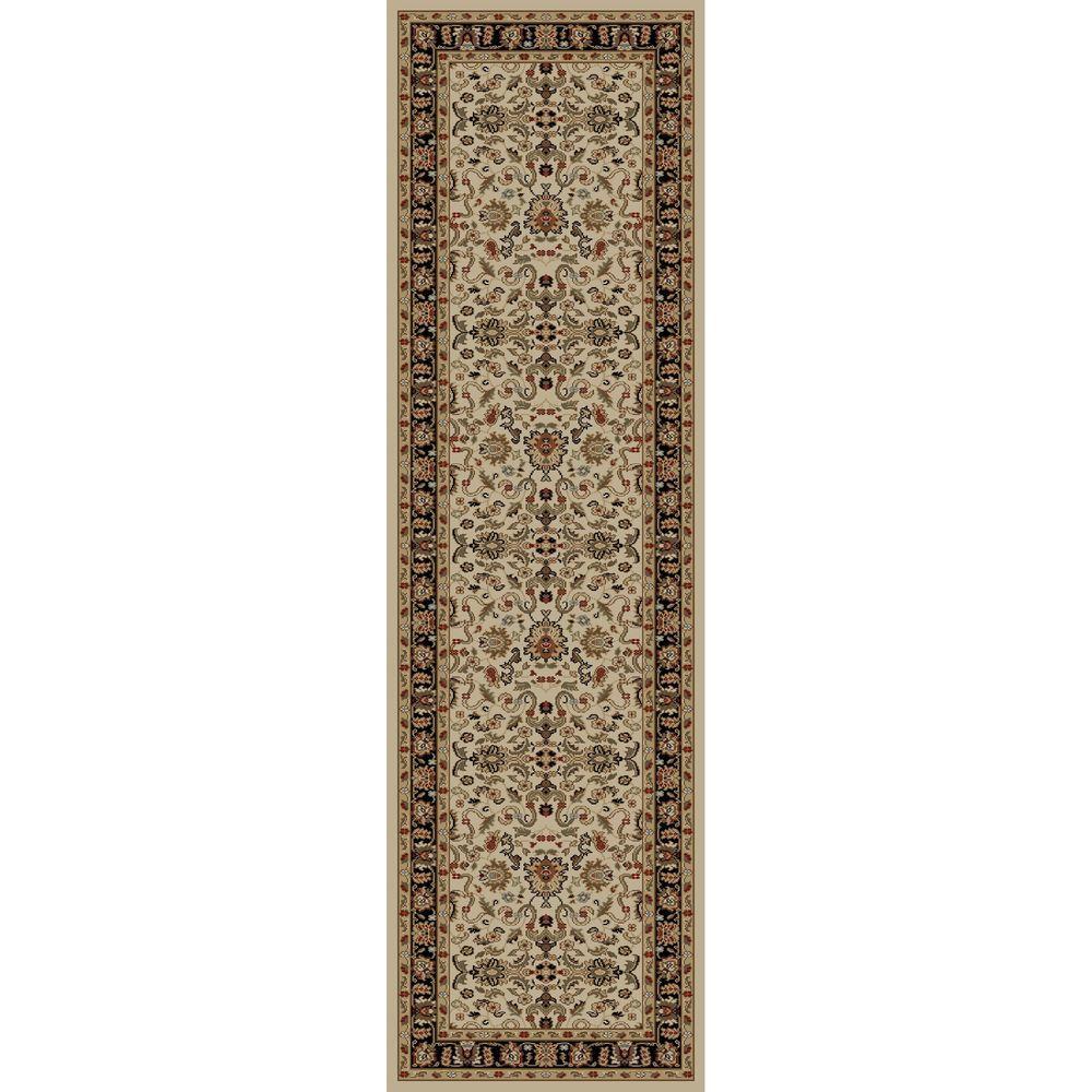 Ankara Agra Ivory 2 ft. x 7 ft. Runner Rug