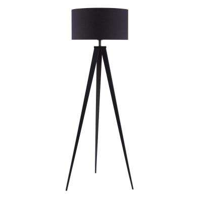 Zeppi 60 in. Black Tripod Floor Lamp