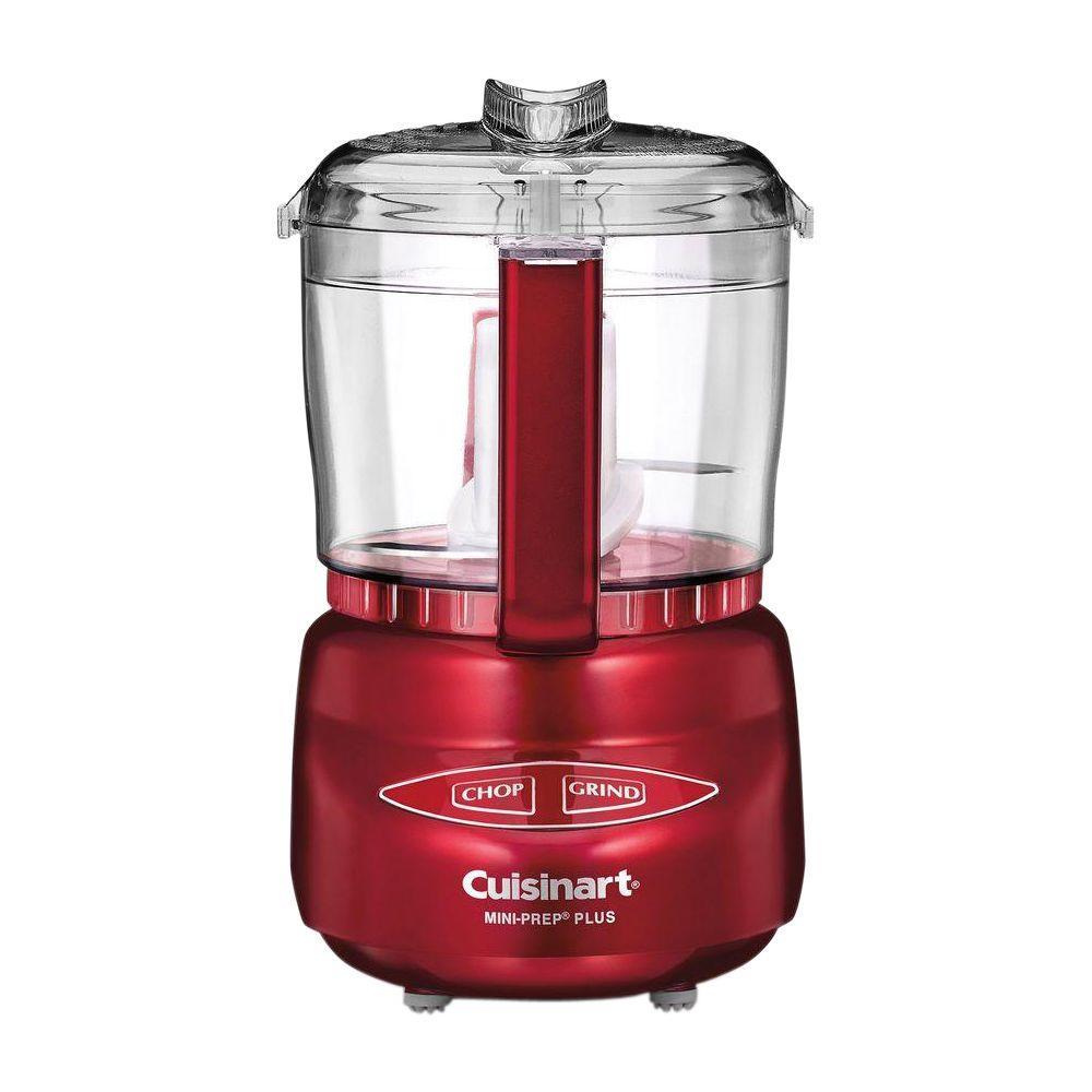 Mini-Prep Plus 3-Cup Metallic Red Food Processor