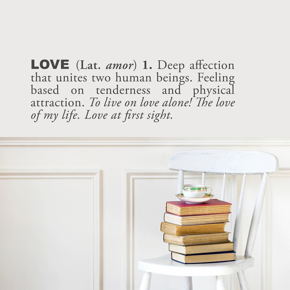 (31 in x 10 in) Love (english) Wall Decal