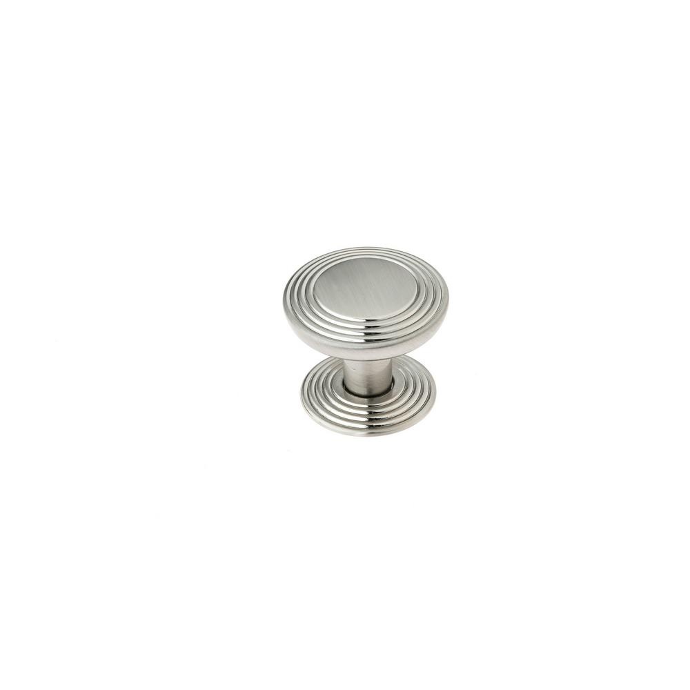 1-1/4 in. (32 mm) Transitional Brushed Nickel Round Cabinet Knob