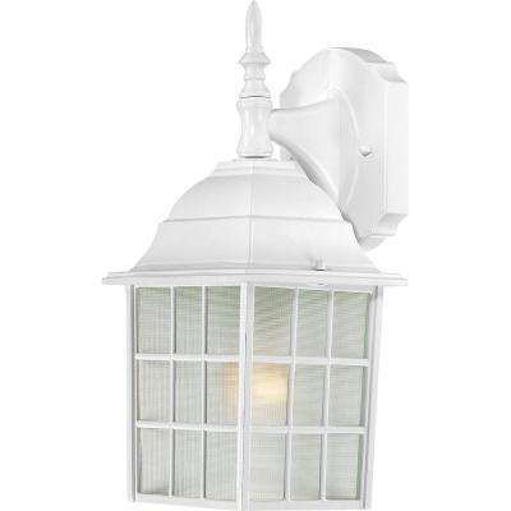 1-Light White Outdoor Wall Mount Lantern