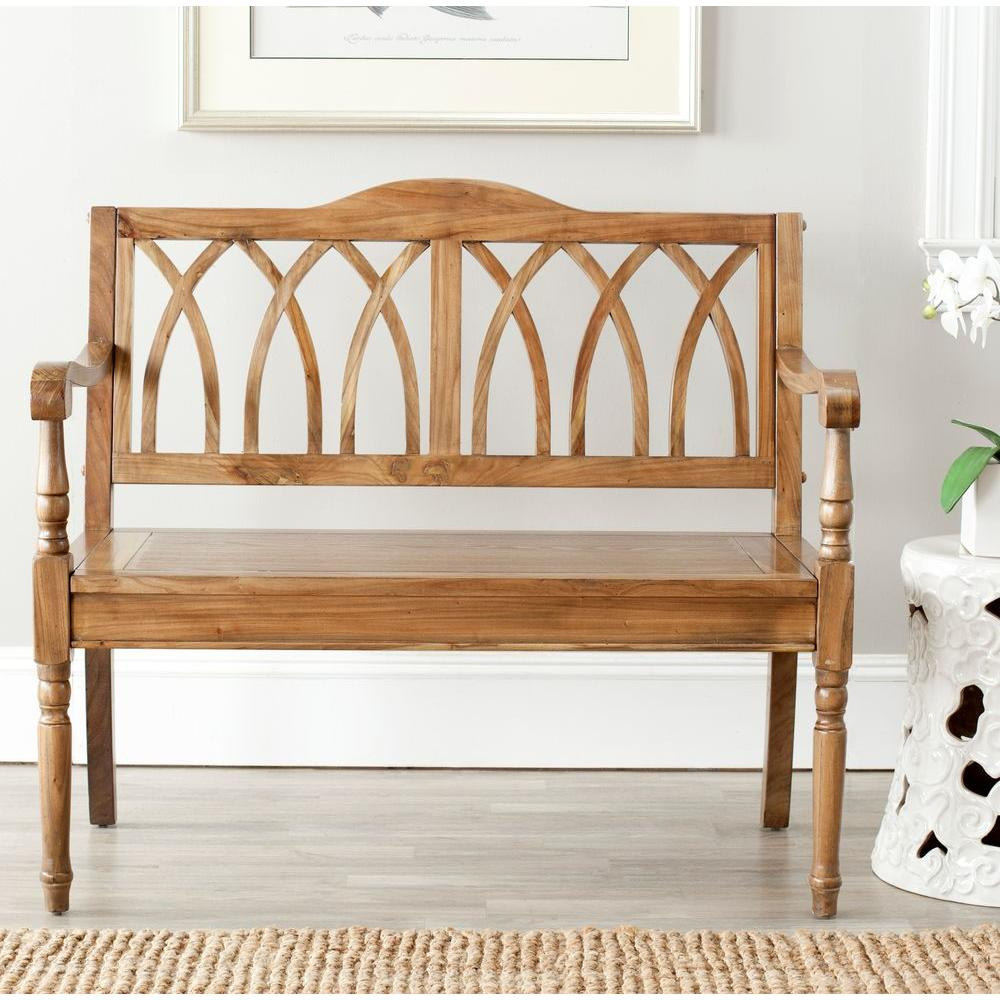SAFAVIEH Safavieh Benjamin Oak Bench, Brown