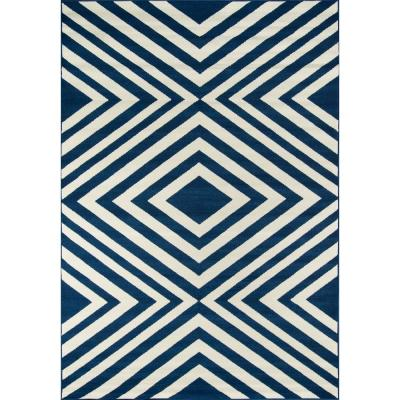 Baja Navy 7 ft. x 10 ft. Indoor/Outdoor Area Rug