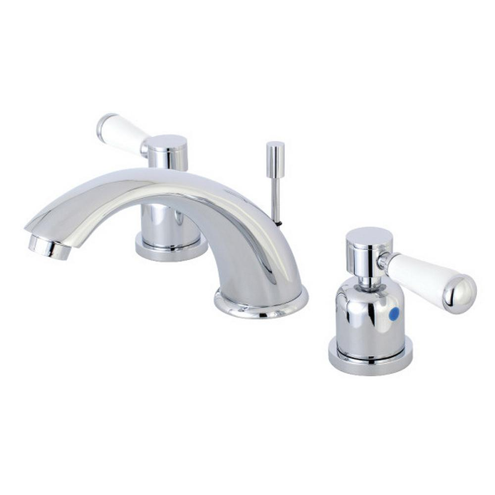 Kingston Brass Paris 8 in. Widespread 2-Handle Bathroom Faucet in Polished Chrome