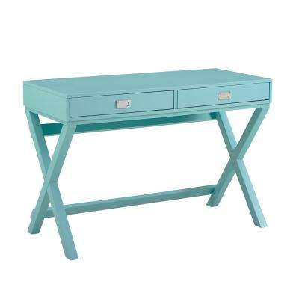 Sara Blue Wood Writing Desk