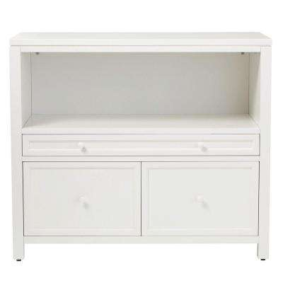 Craft Space 3-Drawer Combination File Cabinet and Open Storage Base in Picket Fence