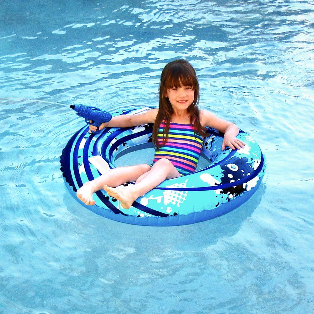Blue Wave Blaster Ring 42 In. Inflatable Pool Toy With