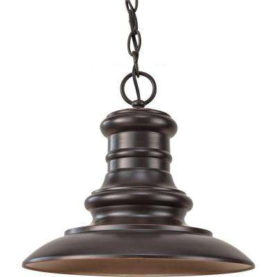 Redding Station 1-Light Restoration Bronze Outdoor Hanging Pendant
