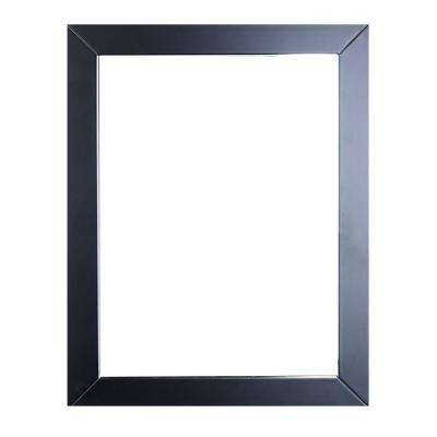 Sun 24 in. W x 30 in. H Framed Wall Mounted Vanity Bathroom Mirror in Espresso