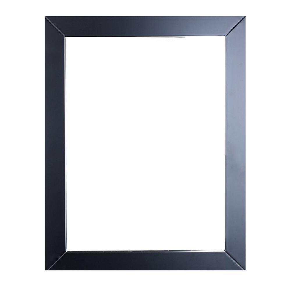 Eviva Sun 24 In W X 30 H Framed Wall Mounted Vanity Bathroom Mirror Espresso