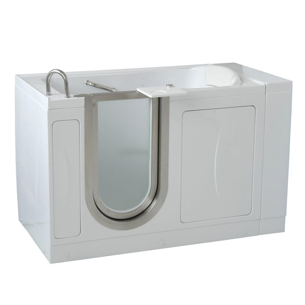 Ella Royal 4.33 ft. x 32 in. Acrylic Walk-In Soaking Bathtub in White with Left Drain/Door