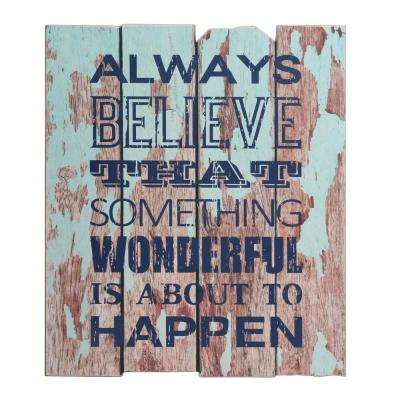 19 in. x 16 in. Wooden Wall Art