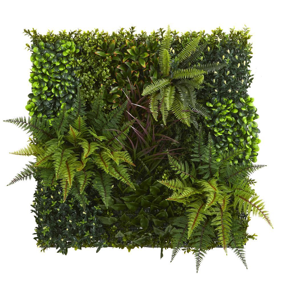 Indoor/Outdoor 29in. x 29in. Artificial Living Wall UV Resistant