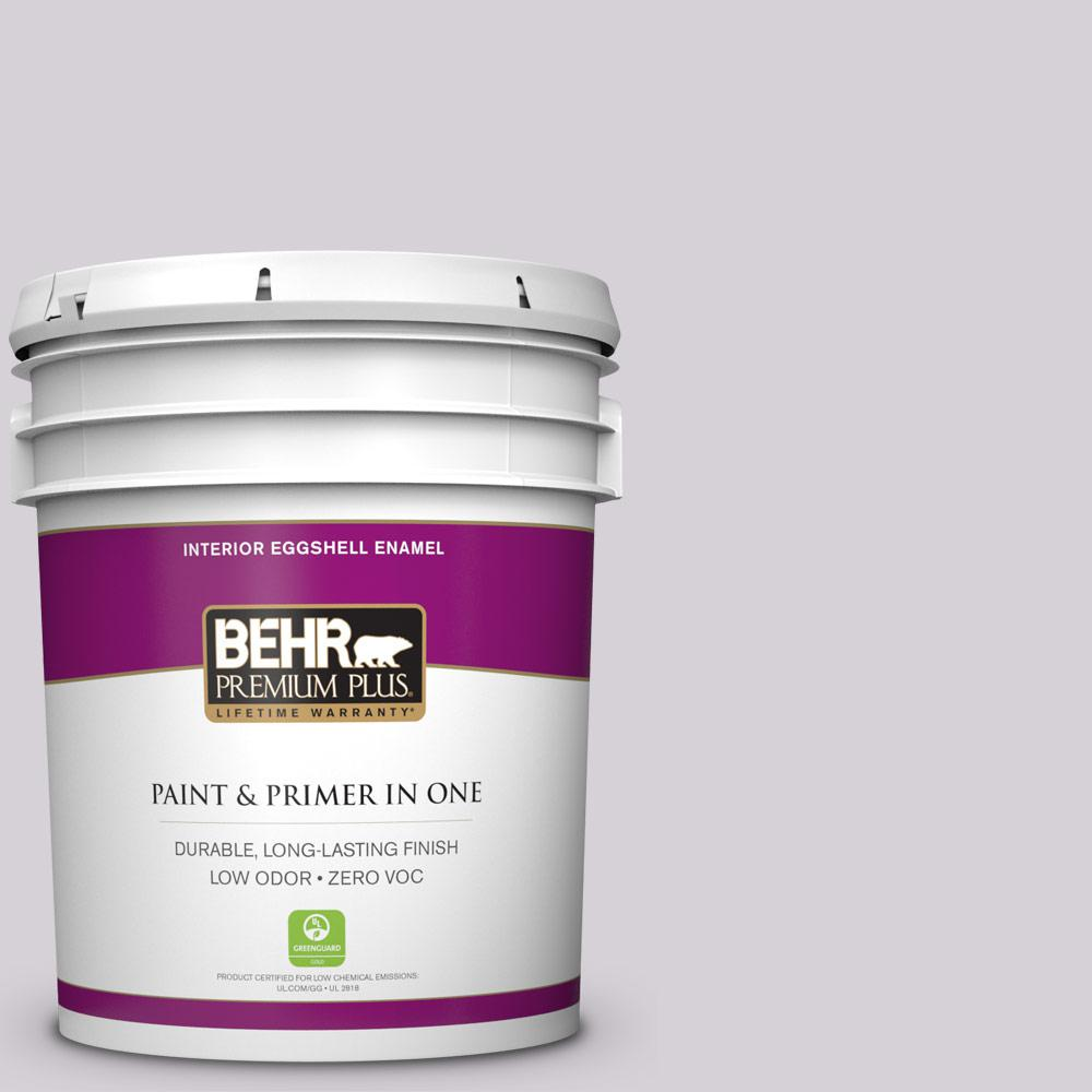 BEHR Premium Plus 5-gal. #670E-3 Lilac Mauve Zero VOC Eggshell Enamel Interior Paint
