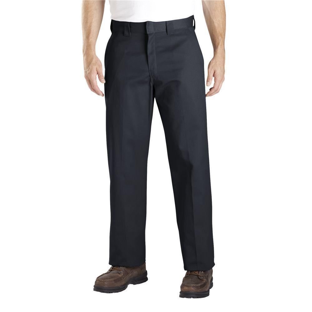 Dickies Relaxed Straight Fit 34 in. x 30 in. Polyester Pant Black