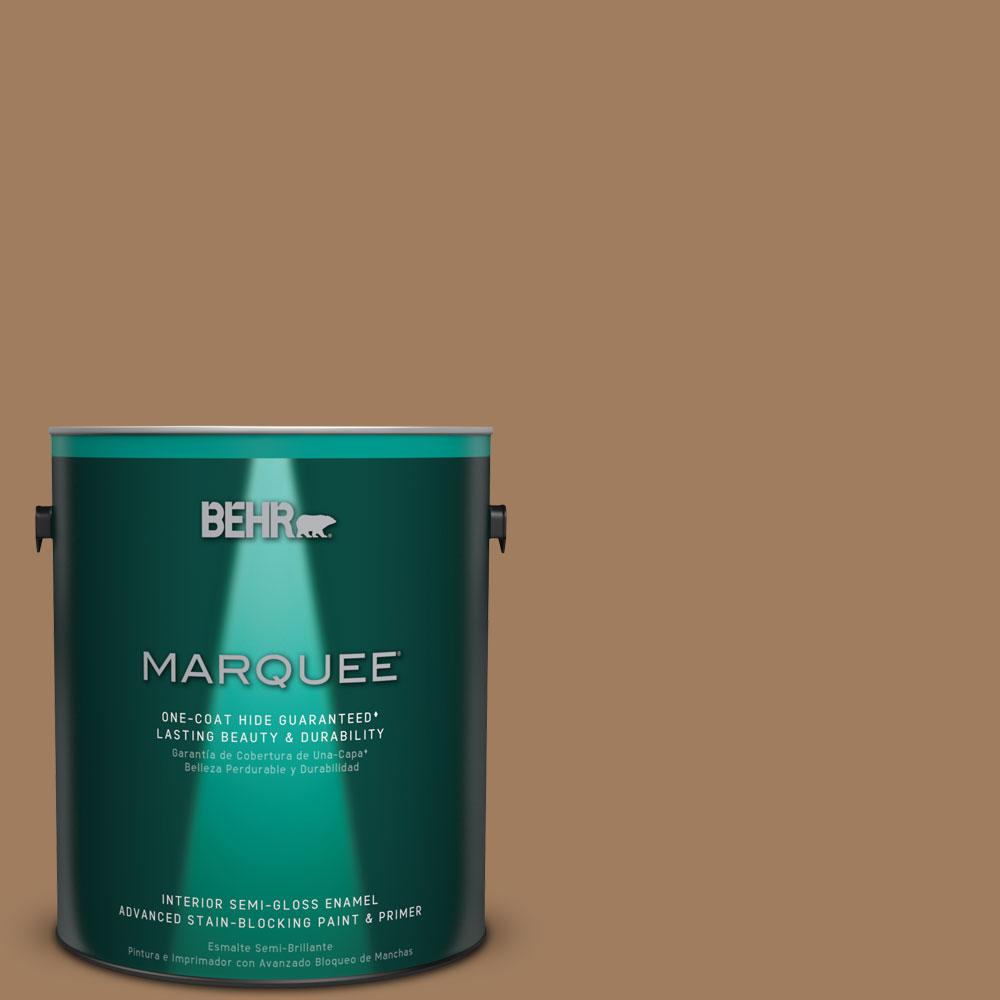 1 gal. #MQ2-11 Outdoor Land One-Coat Hide Semi-Gloss Enamel Interior Paint