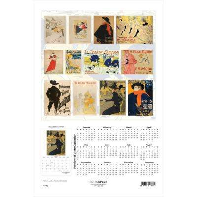 19 in. H x 12.5 in. W Toulouse-Lautrec Posters - 2019 Calendar